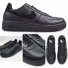 details about sz 13 mens nike air force 1 ultraforce leather triple black 845052 004