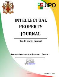 October 2018 Tm Journal By Jamaica Intellectual Property
