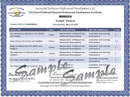 Merit Certificate Sample Amazing Annual STARS Training Certificates Successful Solutions Training