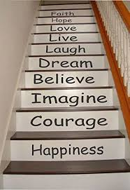 Stairs Quotes Interesting Amazon Inspirational Quotes Stair Riser Decals Stair Stickers