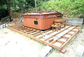 hot tub deck. Hot Tub Deck Decks On Ideas Raised Installation Framing Small .