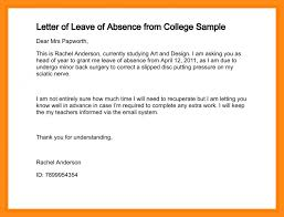 sample of indefinite leave letter how to write a leave of absence letter how to write a leave of absence letter letter of leave of absence from college sample 212 2