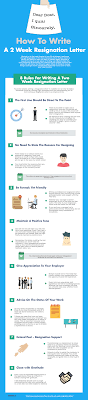 how to write a week resignation letter samples included how to write a 2 week resignation letter infographic