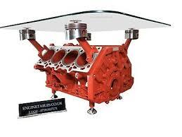 ferrari 355 v8 engine block coffee