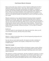 Resume Objective Statement. Sample Resume Objective Statement Free ...