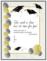 Graduation Program Invitation Designs 40 Free Graduation Invitation Templates Template Lab
