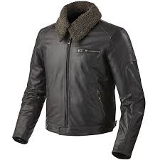 rev it pilot leather jacket dark brown thumb 0
