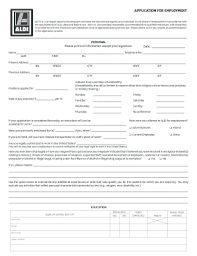 2014-2018 Form Aldi Application For Employment Fill Online ...