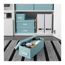 ikea office storage boxes. IKEA - TJENA, Box With Lid, , Suitable For Storing Small Things Like Desk Accessories And Rechargers.The Included Label Holder Helps You To Create An Ikea Office Storage Boxes E