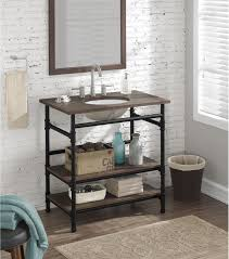 Open Shelf Vanity Bathroom Shelf Vanity Industrial 36open Single Sink Open Shelf Bathroom