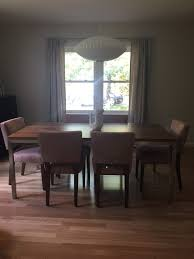 dining room table with no rug designs