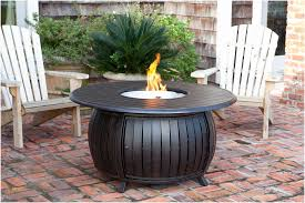 round gas fire pit table source woodlanddirect com propane