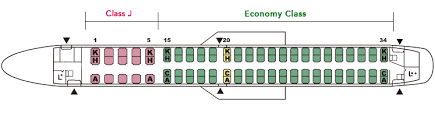 Aeromexico E90 Seating Chart Embraer190 E90 Aircrafts And Seats Jal