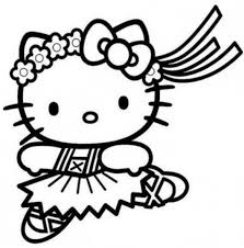 Hula Hello Kitty Coloring Pages