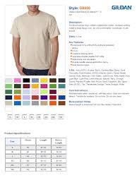 Gildan G8000 Color Chart Blank T Shirts Wholesale T Shirts Plain T Shirts One Of The