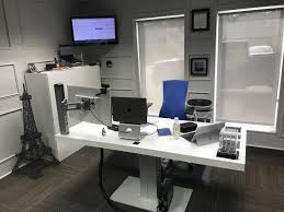 office and home. Workspace Setup: I Enjoy Going Into An Office To Separate Work And Home. The Has Adjustable Sit/stand Desk A Sofa That Allows Me Relax My Home