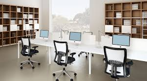 creative office designs 3. Wonderful Creative Simple Clean Modern Joont Office Room Black White Midback Chairs  Long Intended Creative Office Designs 3