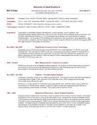 Sample Resume Career Summary Resume Online Builder