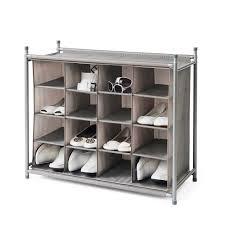 Shoe Rack Neatfreak Shoe Storage And Organizing Units 16 Cubby Shoe