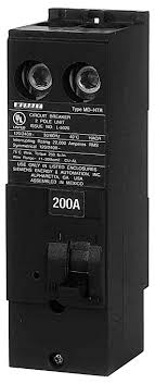 murray mpdrh kaic rated amp plug in breaker magnetic murray mpd2200rh 22 kaic rated 200 amp plug in breaker