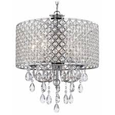 Chandeliers Design:Amazing Zoom Crystal Drum Chandelier Chrome Pendant Light  With Product Image Kitchen Cylinder