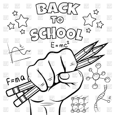 back to school coloring page royalty free vector clip art image at pages