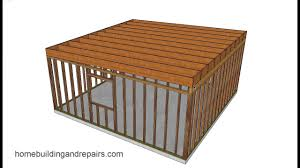 Flat Roof Shed Design Pictures Illustrated Example Of Easy Shed And Garage Framing With Shed Roof