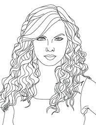 Hair Coloring Pages Justgetlinkinfo