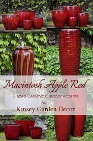 ceramic garden accents macintosh red