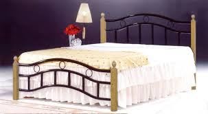 queen size bed with mattress included. Simple Queen Galaxy Wooden Steel Queen Size Bed With Medical Mattress Oak Brown Legs   150 X 190 Cm GDF6888QOBR With Mattress Included Z