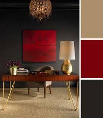 10 colorful workspaces to inspire your home office red and gold burnt red home office