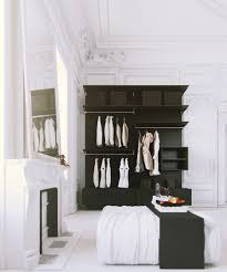 Parisian Bedroom Parisian Apartment White Bedroom With Black Clothes Storage And