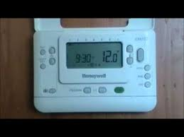 honeywell cm707 digital programmable room thermostat user Thermostat Wiring Color Code honeywell cm707 digital programmable room thermostat user demonstration from advantagesw youtube