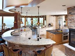Countertop Curved Kitchen Island