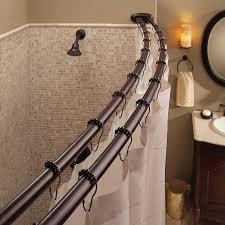 shower curtain ideas. Double Curved Shower Curtain Rod Ideas B