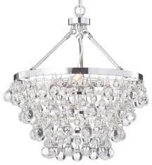 crystal glass 5 light luxury chandelier chrome reviews houzz with regard to chandeliers