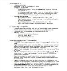 essay outline templates word pdf samples template  argumentative essay outline template