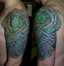 татуировки японский дракон в стиле ориентал цветная грудь плечо
