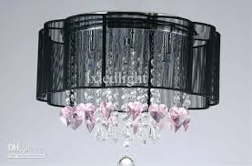 white drum shade crystal chandelier silver and rich rainfall flush mount light hanging new ceiling pendant lig