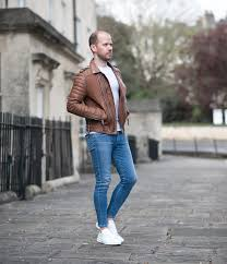 mens street style boda skins antique brown kay michaels biker leather jacket instagram