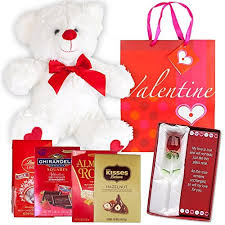 office ideas for valentines day. Valentines Day Gift Basket Set | 12 Teddy Bear Plush, Lindt Lindor Milk Truffles, Hershey Kisses Hazelnut, Ghirardelli Dark Strawberry Chocolate, Office Ideas For