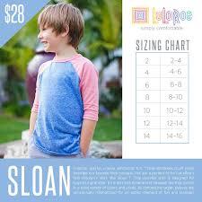 Lularoe Kids Size Chart Lularoe Sloan Sizing Chart With Price In 2019 Size Chart
