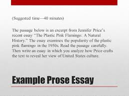 ap english literature and composition national exam ppt video  example prose essay suggested time 40 minutes