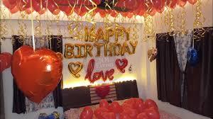 surprise romantic room decoration for