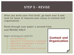 steps of the writing process ppt video online  step 5 revise after you write your first draft go back over it and