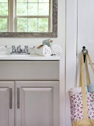 bathroom update ideas. Shabby Chic Bathroom With Gray Vanity Update Ideas G