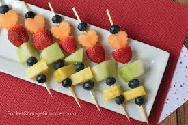 serve fruit kabobs for kids