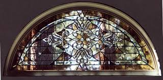 stained glass transom in incline village