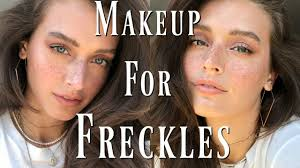 everyday makeup for freckles foundation for freckles faux freckle how to