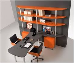 two desk office. Modren Two Juvenile Desk A Beautiful Office With Two Desks In Orange And Grey Throughout Two Desk Office